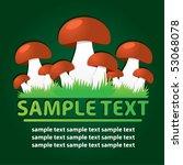 mushrooms. vector template | Shutterstock .eps vector #53068078