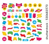 web stickers  banners and... | Shutterstock .eps vector #530683570