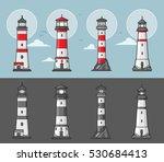 set of lighthouses illustration ... | Shutterstock .eps vector #530684413