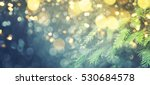 abstract christmas lights on... | Shutterstock . vector #530684578