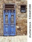 antique door in jaffa. israel | Shutterstock . vector #530685388
