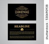 christmas greeting card design. ... | Shutterstock .eps vector #530690938