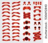 set of vector ribbons. vector... | Shutterstock .eps vector #530692840