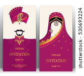 indian invitation card  pattern ... | Shutterstock .eps vector #530693224