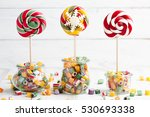 Colorful Lollipops And Candy...