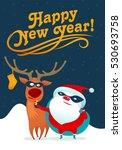 illustration on santa claus... | Shutterstock . vector #530693758