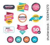 sale stickers  online shopping. ... | Shutterstock .eps vector #530694370