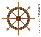 ship wheel vector illustration   Shutterstock .eps vector #530694424