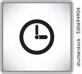 flat clock icon | Shutterstock .eps vector #530694904