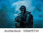 frogman with weapons | Shutterstock . vector #530695714