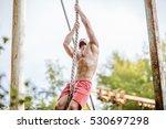 attractive fittness man doing... | Shutterstock . vector #530697298