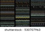 seasonal ornaments. doodle...   Shutterstock .eps vector #530707963