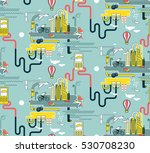 seamless urban pattern with... | Shutterstock .eps vector #530708230