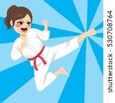 young teenager karate girl...