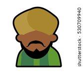 avatar face indian man bearded... | Shutterstock .eps vector #530709940