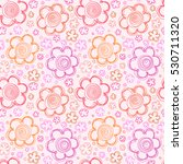vector seamless pattern with... | Shutterstock .eps vector #530711320