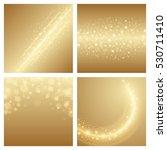 abstract golden light bokeh set ... | Shutterstock .eps vector #530711410