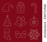 set of simple christmas and new ... | Shutterstock .eps vector #530711968