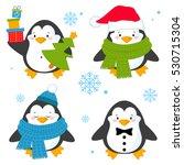 penguin set vector illustration ... | Shutterstock .eps vector #530715304