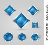 collection of shiny silver... | Shutterstock .eps vector #530716108