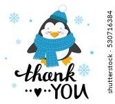 cartoon penguin isolated on... | Shutterstock .eps vector #530716384