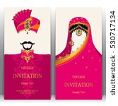 indian invitation card  pattern ... | Shutterstock .eps vector #530717134