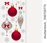 card with christmas decoration | Shutterstock .eps vector #530720773