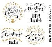 merry christmas lettering... | Shutterstock . vector #530722774
