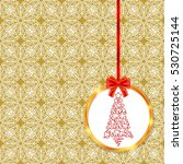 holiday gift card with hand... | Shutterstock .eps vector #530725144