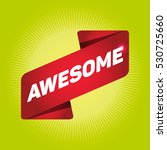 awesome arrow tag sign. | Shutterstock .eps vector #530725660