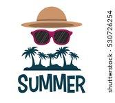 Summer Tropical Palm Sunglasse...