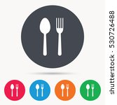 food icons. fork and spoon... | Shutterstock .eps vector #530726488