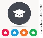 education icon. graduation cap... | Shutterstock .eps vector #530727688
