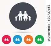 family icon. father  mother and ... | Shutterstock .eps vector #530727868