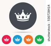 crown icon. royal throne leader ... | Shutterstock .eps vector #530728414