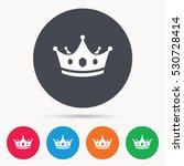 Crown Icon. Royal Throne Leade...
