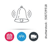 ringing bell icon. sound sign.... | Shutterstock .eps vector #530729518