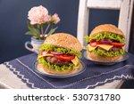 fresh juicy hamburger. quick...