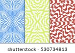 set of Luxury floral ornament. seamless pattern. blue, green,red color. vector illustration.