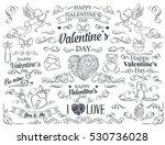 valentine's day design element. ... | Shutterstock .eps vector #530736028