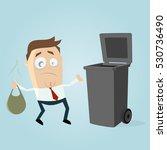 clipart of an unhappy man... | Shutterstock .eps vector #530736490
