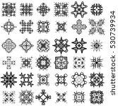 vector set of different tribal... | Shutterstock .eps vector #530739934