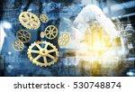 industry 4.0 concept. gears ... | Shutterstock . vector #530748874