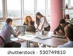 communication between two... | Shutterstock . vector #530749810