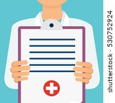 doctor with lab coat holding a... | Shutterstock .eps vector #530752924