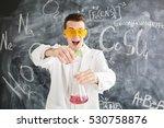 chemist carries chemistry... | Shutterstock . vector #530758876