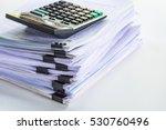 stack of business report paper...   Shutterstock . vector #530760496