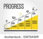yellow progress infographic... | Shutterstock .eps vector #530764309