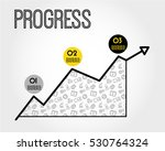 Yellow Progress Infographic...