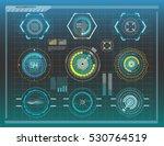 hud elements graph.vector...   Shutterstock .eps vector #530764519